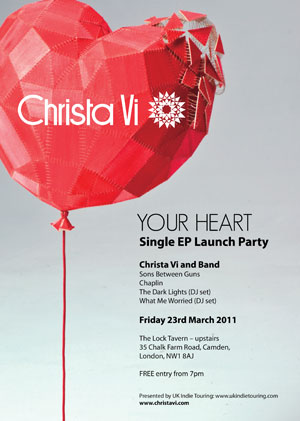 Christa Vi EP Launch flyer - The Lock 230312